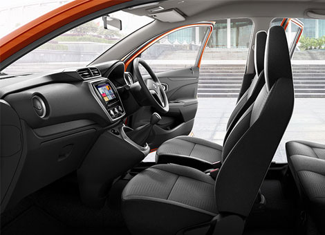 New Datsun GO Car Interior Photos
